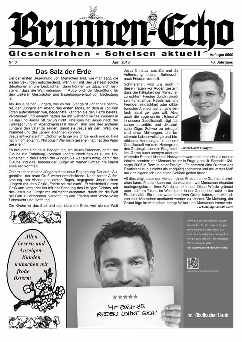 Brunnen-Echo Ausgabe 3 - April 2016